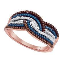 10K Rose Gold Jewelry 0.40 ctw Multi-color Diamond Ladies Ring - WGD88405