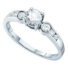 14K White Gold Jewelry 0.75 ctw Diamond Bridal Ring - WGD26176