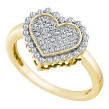 10K Yellow Gold Jewelry 0.28 ctw Diamond Ladies Ring - WGD54899
