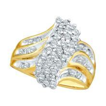 14K White Gold Jewelry 0.50 ctw Diamond Ladies Ring - WGD42094