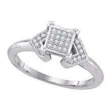 10K White Gold Jewelry 0.10 ctw Diamond Ladies Ring - WGD85385