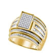 10K Yellow Gold Jewelry 0.86 ctw Diamond Ladies Ring - WGD63973