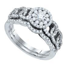 14K White Gold Jewelry 0.76 ctw Diamond Ladies Ring - WGD88521