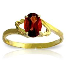 Genuine 0.9 ctw Garnet Ring Jewelry 14KT Yellow Gold  - WGG#2087