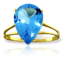 Genuine 5 ctw Blue Topaz Ring Jewelry 14KT Yellow Gold  - WGG#2001