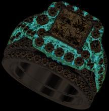14K 2Tone Gold Jewelry 2.85 ctw Diamond Bridal Ring Set - WGD96557