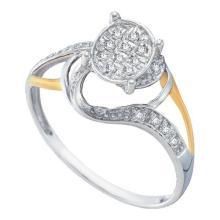 10K White Gold Jewelry 0.10 ctw Diamond Bridal Ring - WGD56786