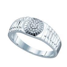 Fine Silver Jewelry 0.05 ctw Diamond Ladies Ring - WGD74038