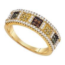 10K Yellow Gold Jewelry 0.50 ctw Multi-color Diamond Ladies Ring - WGD90157
