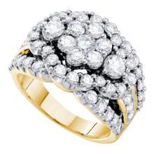 14K Yellow Gold Jewelry 3.0 ctw Diamond Ladies Ring - WGD47377