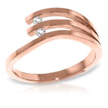 Genuine 0.06 ctw Diamond Anniversary Ring Jewelry 14KT Rose Gold - GG-4576-REF#52P2H