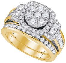 Natural 2.0 ctw Diamond Bridal Set Ring 14K Yellow Gold - GD81153-REF#230F3M