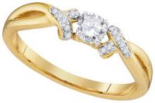Natural 0.33 ctw Diamond Bridal Ring 10K Yellow Gold - GD97237-REF#50T3Z