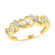 Genuine 0.30 CTW Diamond Ladies Ring 10KT Yellow Gold - GD101796-REF#19N7S