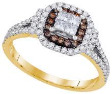 Natural 0.63 ctw Diamond Bridal Ring 14K Yellow Gold - GD91640-REF#80R9K