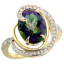 Natural 6.53 ctw mystic-topaz & Diamond Engagement Ring 14K Yellow Gold - SC-R289231Y08-REF#72K8R