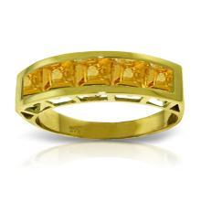 Genuine 2.25 ctw Citrine Ring Jewelry 14KT Yellow Gold - GG-3530-REF#54P2H