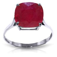Genuine 6.75 ctw Ruby Ring Jewelry 14KT White Gold - GG-4178-REF#70W6Y