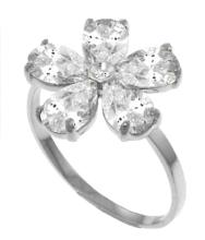 Genuine 2.22 ctw White Topaz & Diamond Ring Jewelry 14KT White Gold - GG-3554-REF#35R9P