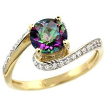 Natural 1.24 ctw mystic-topaz & Diamond Engagement Ring 14K Yellow Gold - SC-D312723Y08-REF#52X6A