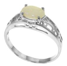 Genuine 0.45 ctw Opal Ring Jewelry 14KT White Gold - GG-4366-REF#29M7T