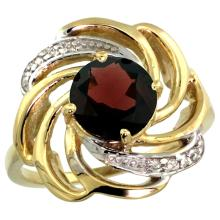 Natural 2.25 ctw garnet & Diamond Engagement Ring 14K Yellow Gold - SC-R297241Y10-REF#58Y9X
