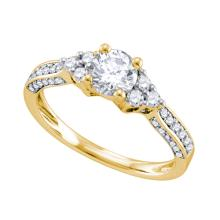 14K Yellow Gold Jewelry 1.15 ctw Diamond Bridal Ring - WGD70298 - REF#N252T1