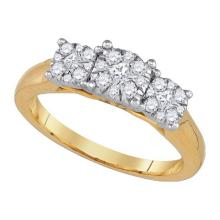 14K Yellow Gold Jewelry 0.50 ctw Diamond Ladies Ring - WGD86894 - REF#K60V1