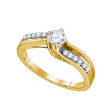 14K Yellow Gold Jewelry 0.48 ctw Diamond Bridal Ring - WGD74741 - REF#A66K2