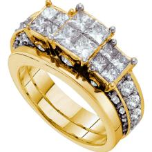 14K Yellow Gold Jewelry 2.99 ctw Diamond Bridal Ring Set - WGD47514 - REF#R270A2