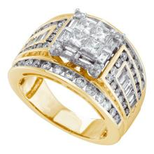 14K Yellow Gold Jewelry 2.0 ctw Diamond Ladies Ring - WGD53499 - REF#A192K1