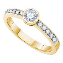14K Yellow Gold Jewelry 0.39 ctw Diamond Bridal Ring - WGD53793 - REF#A51K6