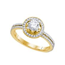 14K Yellow Gold Jewelry 0.90 ctw Diamond Bridal Ring - WGD74726 - REF#X114W2