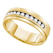 14K Yellow Gold Jewelry 0.53 ctw Diamond Ladies Ring - WGD55280 - REF#Y72H2