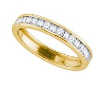 14K Yellow Gold Jewelry 0.50 ctw Diamond Ladies Ring - WGD81097 - REF#M42Y2
