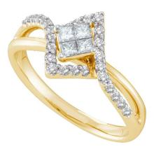 14K Yellow Gold Jewelry 0.46 ctw Diamond Ladies Ring - WGD45396 - REF#R48A1