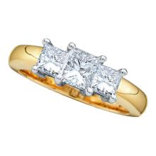 14K 2Tone Gold Jewelry 1.0 ctw Diamond Ladies Ring - WGD12033 - REF#Y126H1