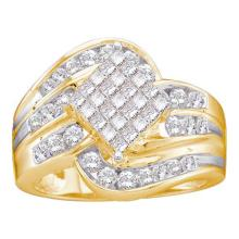 14K Yellow Gold Jewelry 1.0 ctw Diamond Ladies Ring - WGD12269 - REF#Y93H6