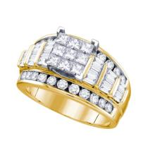 14K Yellow Gold Jewelry 2.0 ctw Diamond Bridal Ring - WGD67376 - REF#T168F2