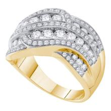 14K Yellow Gold Jewelry 1.5 ctw Diamond Ladies Ring - WGD47439 - REF#A150K1