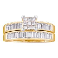 14K Yellow Gold Jewelry 1.0 ctw Diamond Bridal Ring Set - WGD22951 - REF#L84N1