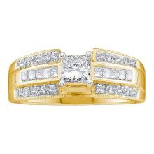 14K Yellow Gold Jewelry 0.65 ctw Diamond Bridal Ring - WGD26258 - REF#F87L6