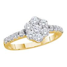 14K Yellow Gold Jewelry 1.01 ctw Diamond Ladies Ring - WGD39403 - REF#M81Y6