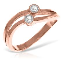 Genuine 0.20 ctw Diamond Anniversary Ring Jewelry 14KT Rose Gold - WGG4575 - REF#F40R6