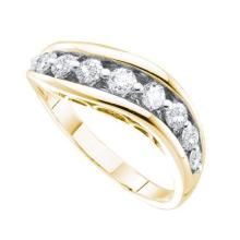 14K Yellow Gold Jewelry 0.51 ctw Diamond Ladies Ring - WGD39318 - REF#Y51H6