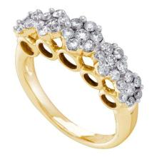 14K Yellow Gold Jewelry 0.76 ctw Diamond Ladies Ring - WGD39415 - REF#A57K6