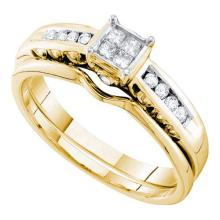 14K Yellow Gold Jewelry 0.75 ctw Diamond Ladies Ring - WGD45707 - REF#V69R7