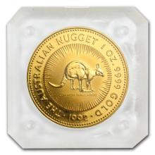 One 1992 Australia 1 oz Gold Nugget BU - WJA75609