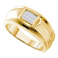 14K Yellow Gold Jewelry 0.25 ctw Diamond Men's Ring - WGD26763 - REF#V60R1