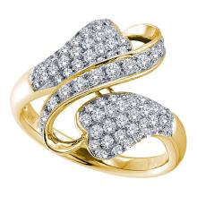 14K Yellow Gold Jewelry 0.15 ctw Diamond Ladies Ring - WGD52681 - REF#N12T2